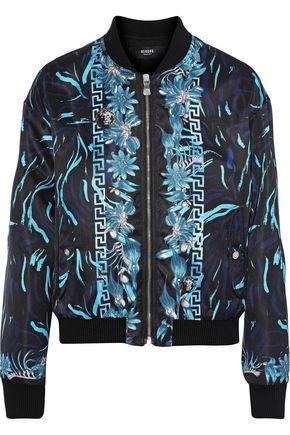 VERSUS VERSACE Printed shell bomber jacket