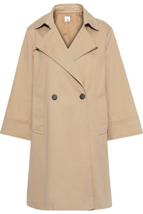 IRIS & INK Rorik double-breasted cotton-twill trench coat