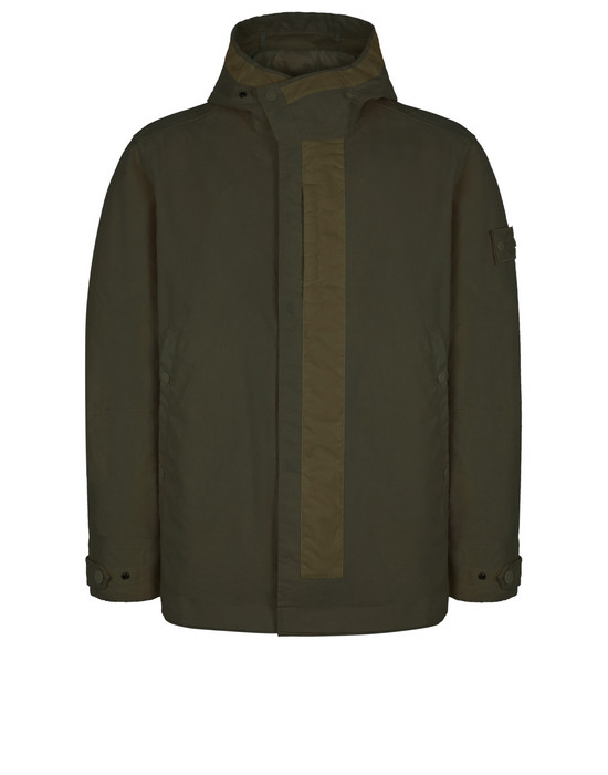 STONE ISLAND 442F1 GHOST PIECE_MIL_SPEC DIAGONAL WOOL Jacket Man
