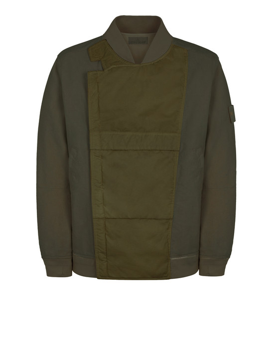 STONE ISLAND 443F1 GHOST PIECE_MIL_SPEC DIAGONAL WOOL Jacket Man Military Green