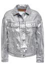 ACNE STUDIOS Coated metallic denim jacket