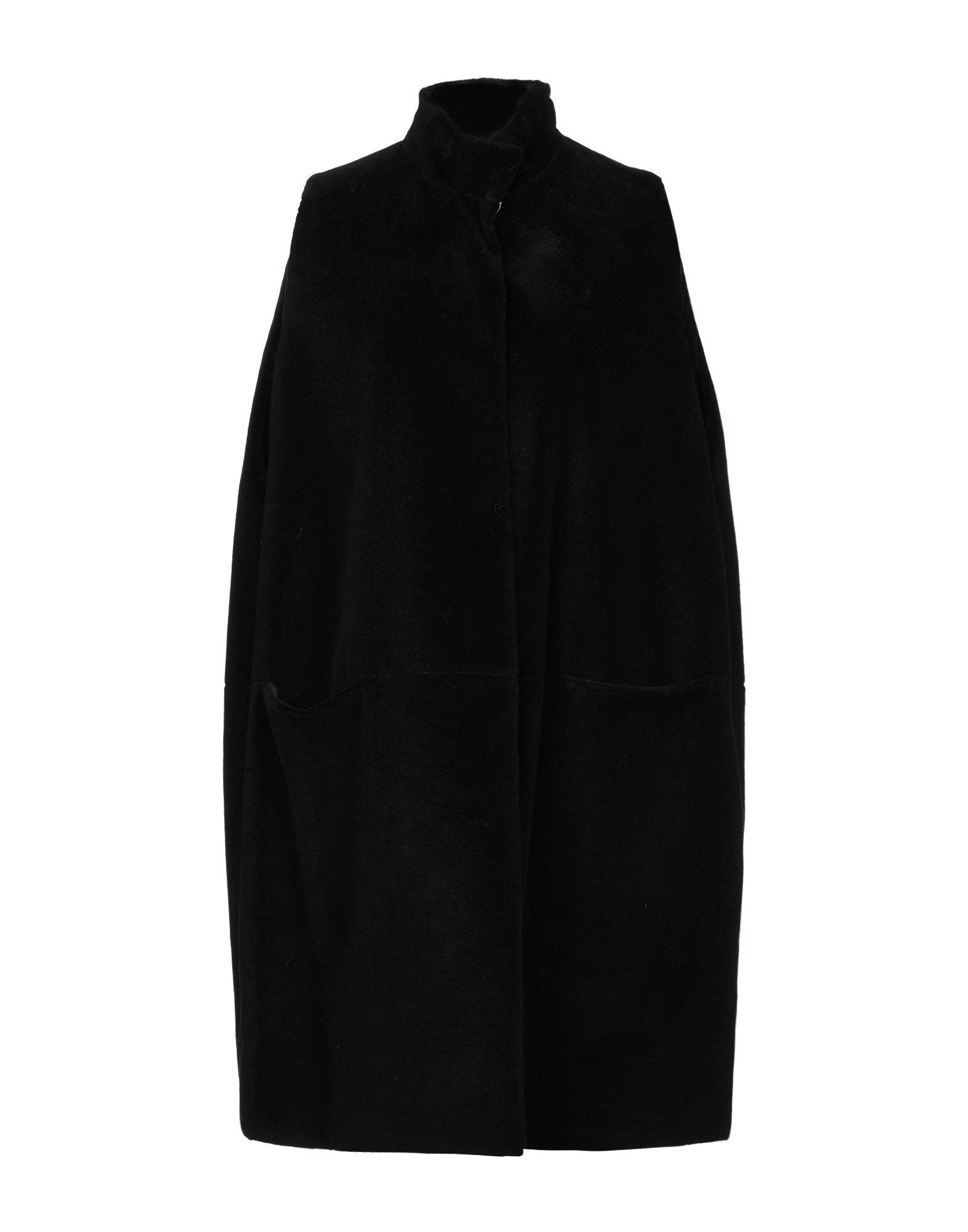 《セール開催中》GIANLUCA CAPANNOLO レディース コート ブラック 42 バージンウール 100%