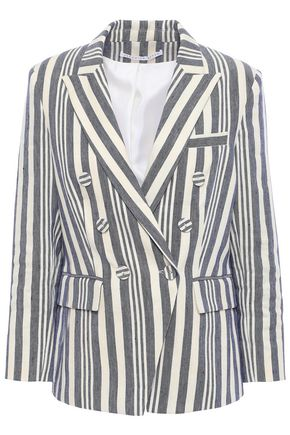 VERONICA BEARD Double-breasted linen-blend blazer