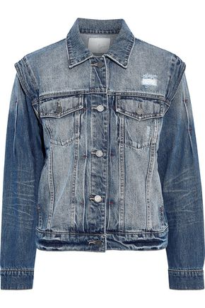 JOIE Demanda distressed denim jacket