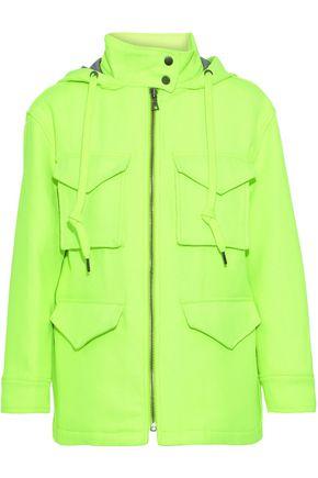 ALICE + OLIVIA Russo neon twill hooded jacket