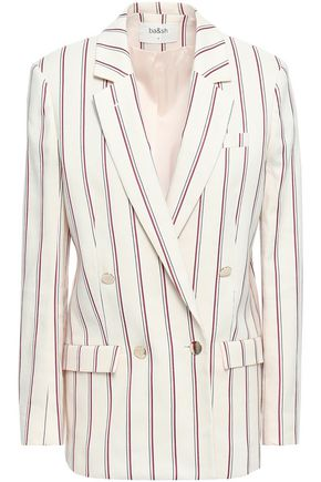 BA&SH Fedor double-breasted striped twill blazer