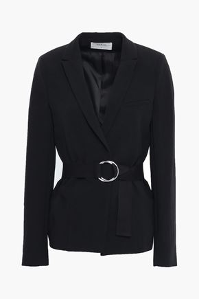 BA&SH Sunny belted textured-crepe blazer