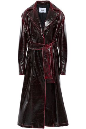 MSGM Belted coated wool-blend trench coat