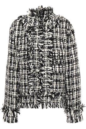 MSGM Frayed tweed jacket