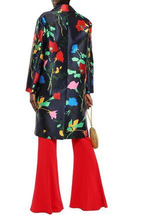 MSGM Floral-print satin-twill jacket