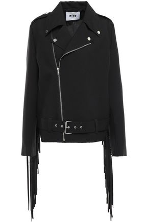 MSGM Fringed crepe jacket