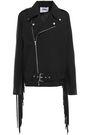 MSGM Fringed crepe jacket