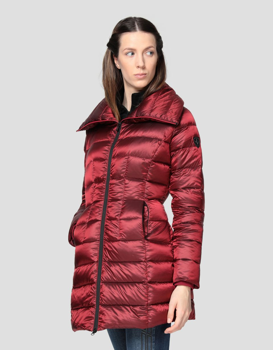 Scuderia Ferrari Online Store - Water repellent women's down jacket with REAL DOWN - Down Jackets