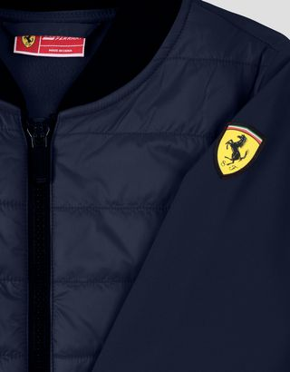 Scuderia Ferrari Online Store - Padded jacket for boys and girls with SOFTSHELL sleeves and back - Bombers & Track Jackets