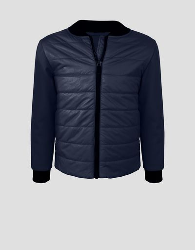 Padded jacket with SOFTSHELL sleeves and back for boys and girls