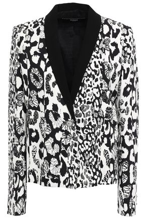 VERSUS VERSACE Leopard-print stretch-crepe blazer