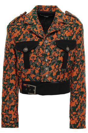VERSUS VERSACE Buckle-detailed jacquard jacket