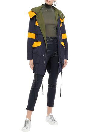 VERSUS VERSACE Color-block shell hooded jacket