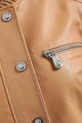 VERSUS VERSACE Appliquéd chainmail-embellished leather bomber jacket