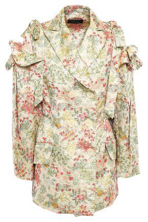 SIMONE ROCHA Bow-embellished jacquard jacket