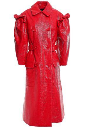 SIMONE ROCHA Gathered ruffled coated cotton-blend coat