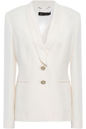 VERSACE Button-detailed silk-crepe blazer