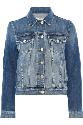 GOOP x FRAME Vintage faded denim jacket
