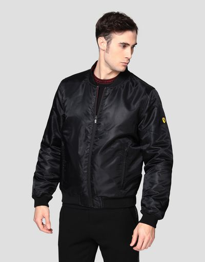 Double layer men's bomber jacket