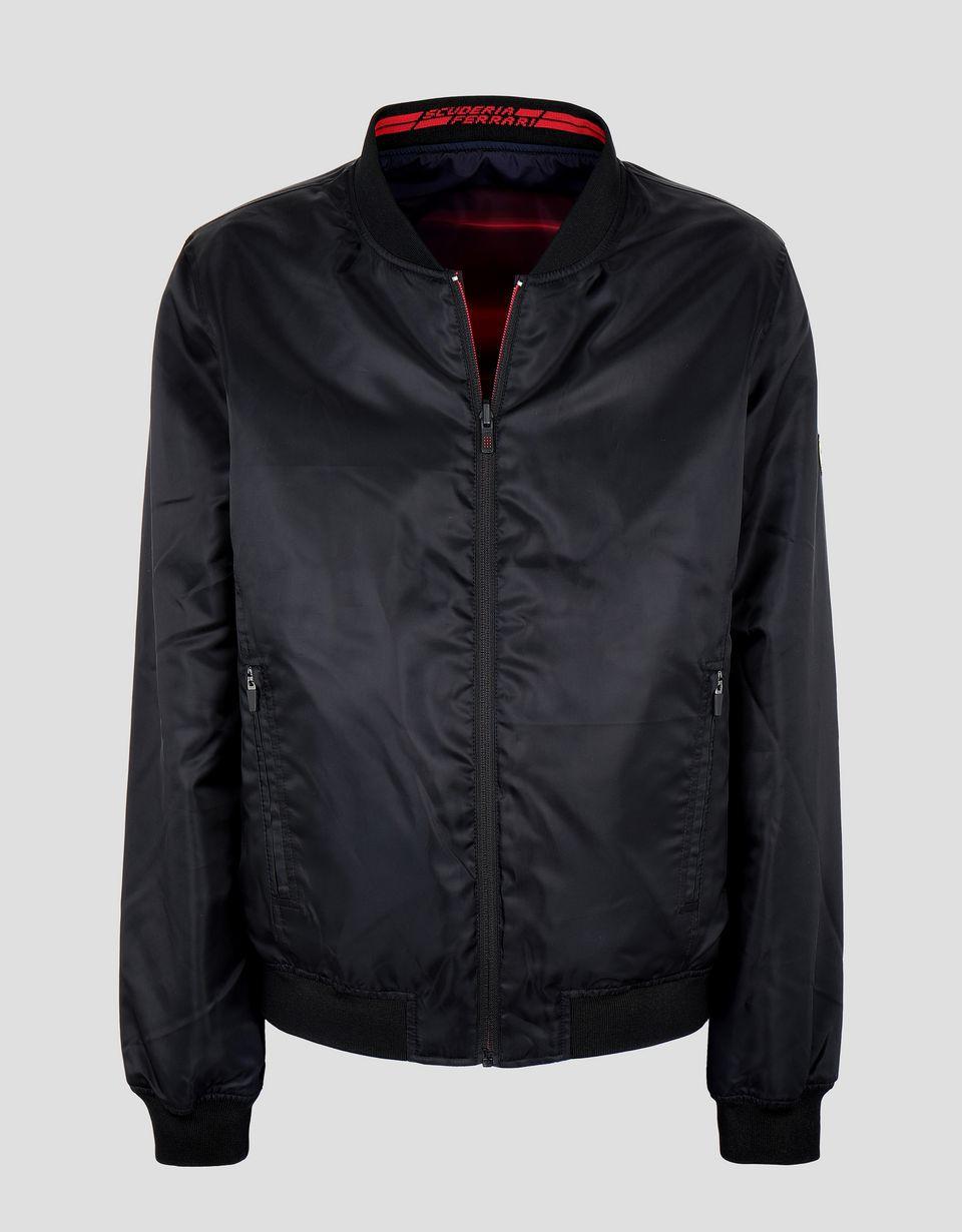 Scuderia Ferrari Online Store - Double layer men's bomber jacket - Bombers & Track Jackets