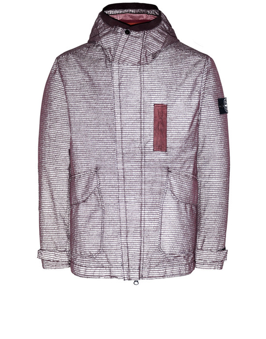 STONE ISLAND 43999 REFLECTIVE WEAVE RIPSTOP-TC WITH PANNO JACQUARD_DETACHABLE LINING Jacket Man Dark Burgundy