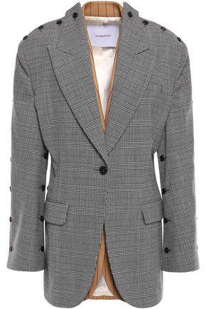 PUSHBUTTON Convertible printed wool-blend blazer