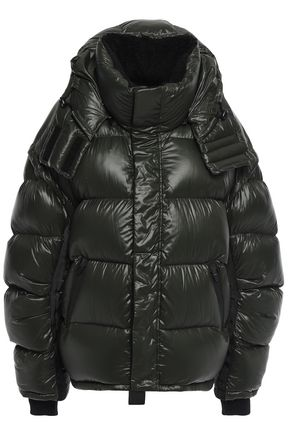 FAITH CONNEXION Quilted shell hooded jacket