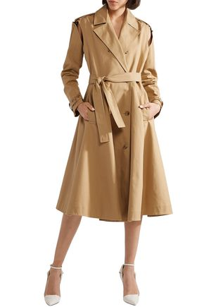 c968a7a4595 CALVIN KLEIN 205W39NYC Double-breasted flared cotton-twill trench coat