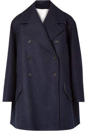 CALVIN KLEIN 205W39NYC Double-breasted oversized wool-felt coat