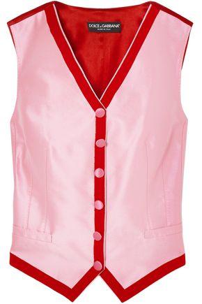 DOLCE & GABBANA Two-tone faille vest