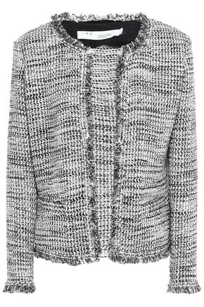 IRO Unplug frayed metallic bouclé-tweed jacket