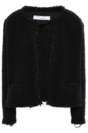 Strut Frayed Chain Embellished Bouclé Jacket by Iro