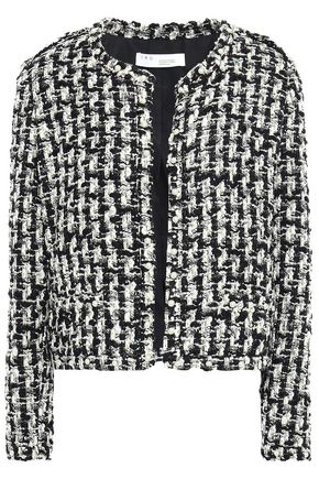 IRO Gonna faux pearl-embellished metallic tweed jacket