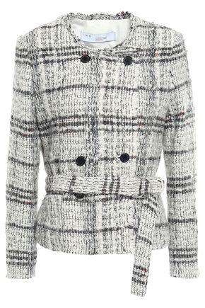 IRO Embellished metallic bouclé-tweed jacket