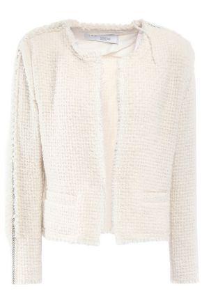 IRO Frayed chain-trimmed bouclé-tweed blazer