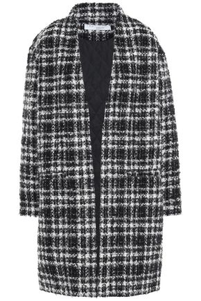 IRO Checked bouclé-tweed coat
