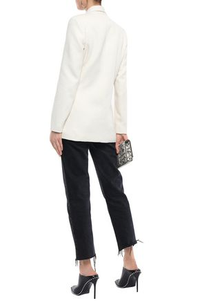 IRO Azzow buckled cotton-blend bouclé-tweed blazer