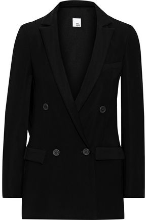 IRIS & INK Oglesby double-breasted crepe blazer