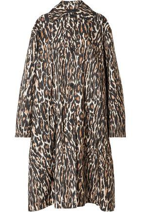 CALVIN KLEIN 205W39NYC Oversized leopard-print faille coat
