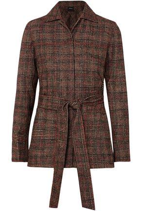 AKRIS Tie-front checked tweed jacket