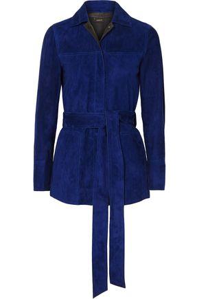 AKRIS Belted suede jacket