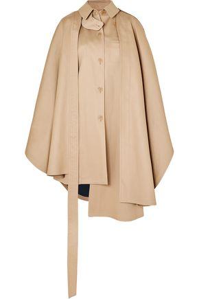 LOEWE Convertible asymmetric cotton-gabardine cape