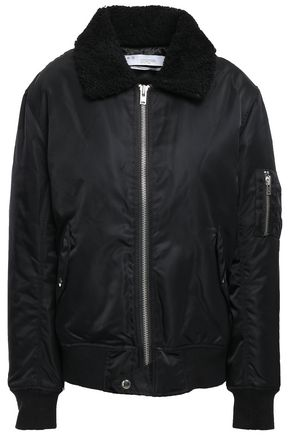 IRO Abore faux shearling-trimmed shell bomber jacket