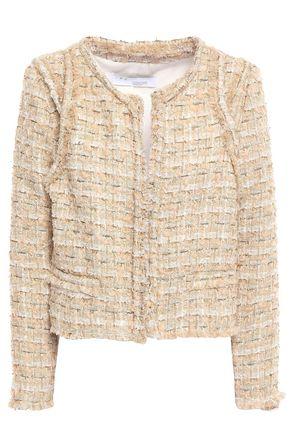 IRO Disco frayed metallic bouclé-tweed jacket