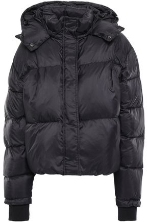 IRO Back quilted shell hooded down jacket
